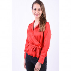 Bluza Only Onlmariela Satin High Risk Red