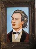 Tablou / Pictura portret Mihai Eminescu semnat Cimpoesu