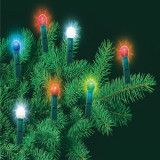 Ghirlanda luminoasa cu 45 becuri tip glob, lungime 13.5 m, decor interior sursa lumina multicolora