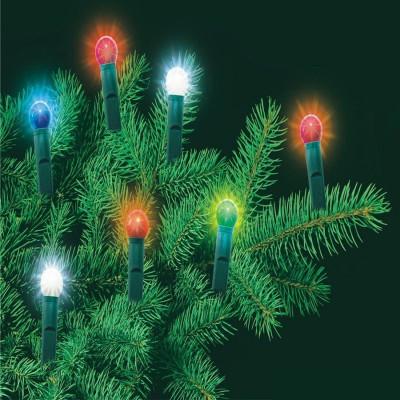 Ghirlanda luminoasa cu 45 becuri tip glob, lungime 13.5 m, decor interior sursa lumina multicolora foto