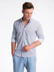 Camasa premium, casual, barbati - K475-alb-rosu foto