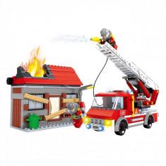 Set cuburi Lego, actual investing, model pompieri, 355 piese
