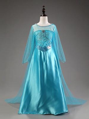 Rochie/rochita costum Elsa Frozen  cu trena lunga foto