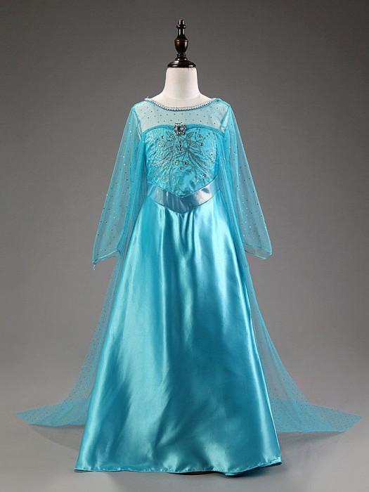Rochie/rochita costum Elsa Frozen  cu trena lunga