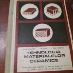 TEHNOLOGIA MATERIALELOR CERAMICE