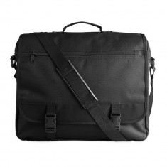 Geanta pentru documente, compartimente diverse, Everestus, GD01, poliester 600D, negru, saculet si eticheta bagaj incluse