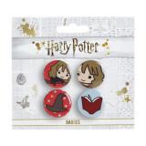 Set 4 insigne licenta Harry Potter Hermione