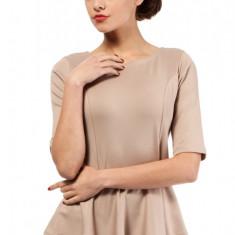 Bluza eleganta, de culoare bej, cu peplum, L, M, S, XL