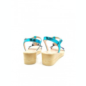 Sandale din piele naturala cu platforma