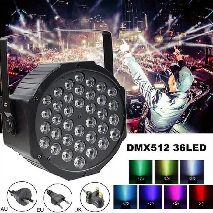 Lumini Disco cu senzor de muzica - 36 LED Proiector joc de lumini