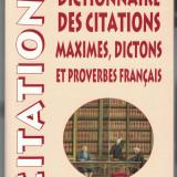 Dictionnaire des citations, maximes, dictons et proverbes français