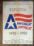 DD - Afis din 1992, Expozitia Ameria... America... la Muzeul Judetean Maramures