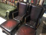 Mobila Fotolii chesterfield, set scaune sufragerie piele birou semineu