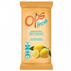 Servetele de calatorie OPS Fresh lemon 15buc