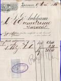 Factura vinuri Dealul Zorilor, Bucuresti,Caracal -rara,1914-tema vin,vinificatie