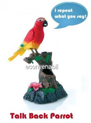 Papagal de jucarie din plastic repeta ceea ce i se spune foto