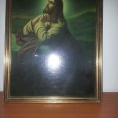 Tablou religios-Isus- reproducere/litografiat pe carton cu sticla protectie