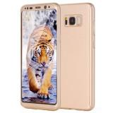 Husa Full Cover 360° (fata + spate) pentru Samsung Galaxy S8 Plus, Gold, Auriu
