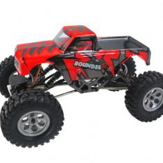 Masina Himoto, Mini Rock Crawler 1:16 4WD 2.4GHz 4CH RTR Rosu cu telecomanda