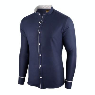 Camasa pentru barbati, bleumarin, slim fit - Neo Elegance foto