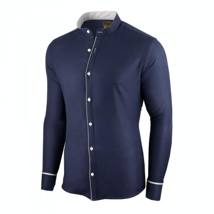 Camasa pentru barbati, bleumarin, slim fit - Neo Elegance
