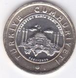 Moneda Turcia 1 Lira 2020 - KM#New UNC ( bimetalica, moscheea Hagia Sophia ), Europa