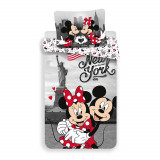 Set lenjerie de pat Mickey and Minnie Mouse, 140 x 200 cm, Disney