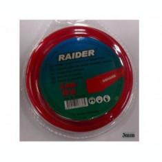 Rezerva fir trimmer si motocoase 3mm x15m, profil patrat, Raider