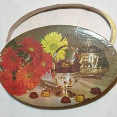Cutie veche comunista de colectie Bomboane fine de ciocolata 1970