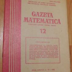 Gazeta matematica - Nr. 12 din 1982