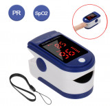 Pulsoximetru cu ecran digital pentru masurarea nivelului de oxigen din sange si a pulsului portabil snur de agatat inclus