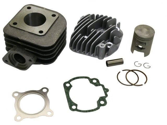 Kit Cilindru Set Motor + Chiuloasa Scuter Kymco People - 2T - 49cc - 50cc - AER