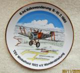 Portelan Schwarzenbach-R.Lorenz &.Sohn.Farfurie cu avion Camel 1917.Vintage.