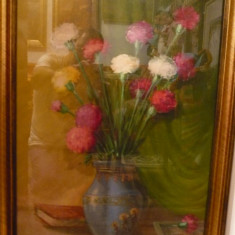 Tablou vechi-Flori in vaza-Leon Alexandru Biju