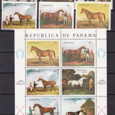 Panama  1968  pictura  cai     MI 1118-1123 serie + kleib.   MNH  w60