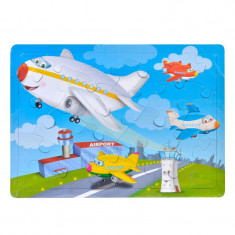 Puzzle copii Trefl, 24 piese, model avion