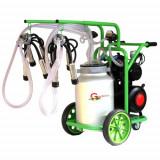 Masina de Muls 2 post 40 l aluminiu cu pahare inox cu tanc A18001301