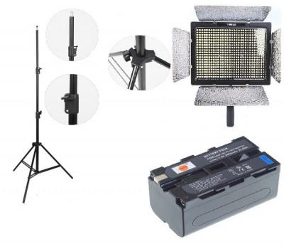 Kit lumina continua Lampa Yongnuo YN600L+ 2x Acumulatori Dste NP F+ incarcator+ stativ foto