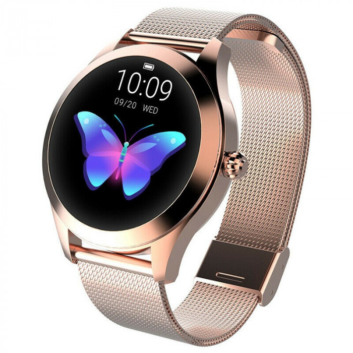 Ceasul pentru femei KW10 KINGWEAR Smartwatch, ECG, PPG, ciclul, AUR
