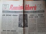 Ziarul romania libera 25 decembrie 1989 - revolutia romana