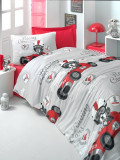 Lenjerie de pat pentru copii Victoria model Racing Cars
