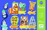 Puzzle Trenuletul cu animale numarate