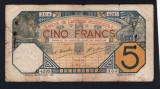 Africa Occidentala 5 Francs S4295 1929
