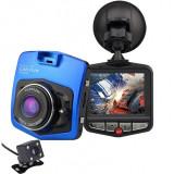 Cumpara ieftin Camera auto Dubla iUni Dash 806, Full HD, 12Mpx, 2.5 Inch, 170 grade, Parking monitor, G senzor, Senzor de miscare, Blue