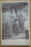 Foto pe carton gros , ofiteri nemti care au facut parte din garnizoana Bucuresti