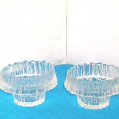 Suporturi lumanare, pastile, cristal  -Stellaria- design Tapio Wirkkala, Iittala