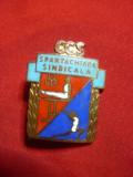 Insigna veche CCS Spartachiada Sindicala , h= 3cm