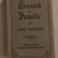 CRONICA DE FAMILIE de PETRU DUMITRIU
