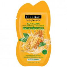 Masca curatare pentru tenul gras FREEMAN Manuka Honey + Tea Tree Oil Clay Mask 15 ml