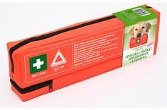 Kit siguranta auto 450x140x50 mm contine: Trusa sanitara , Triunghi reflectorizant si Vesta reflectorizanta verde foto